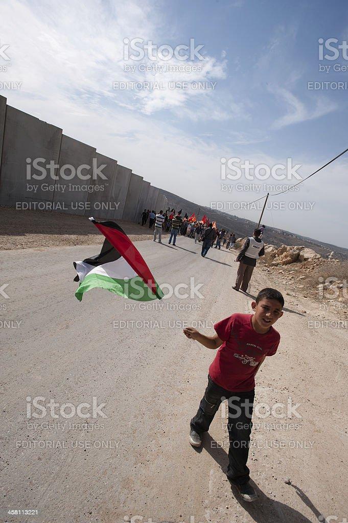 Palestinian Nonviolent Activism royalty-free stock photo
