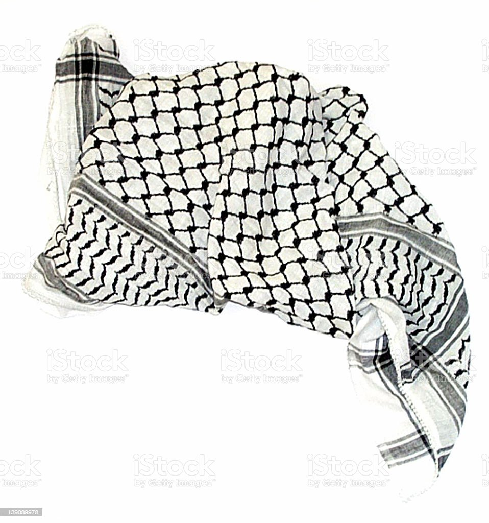 Palestinian Scarf royalty-free stock photo