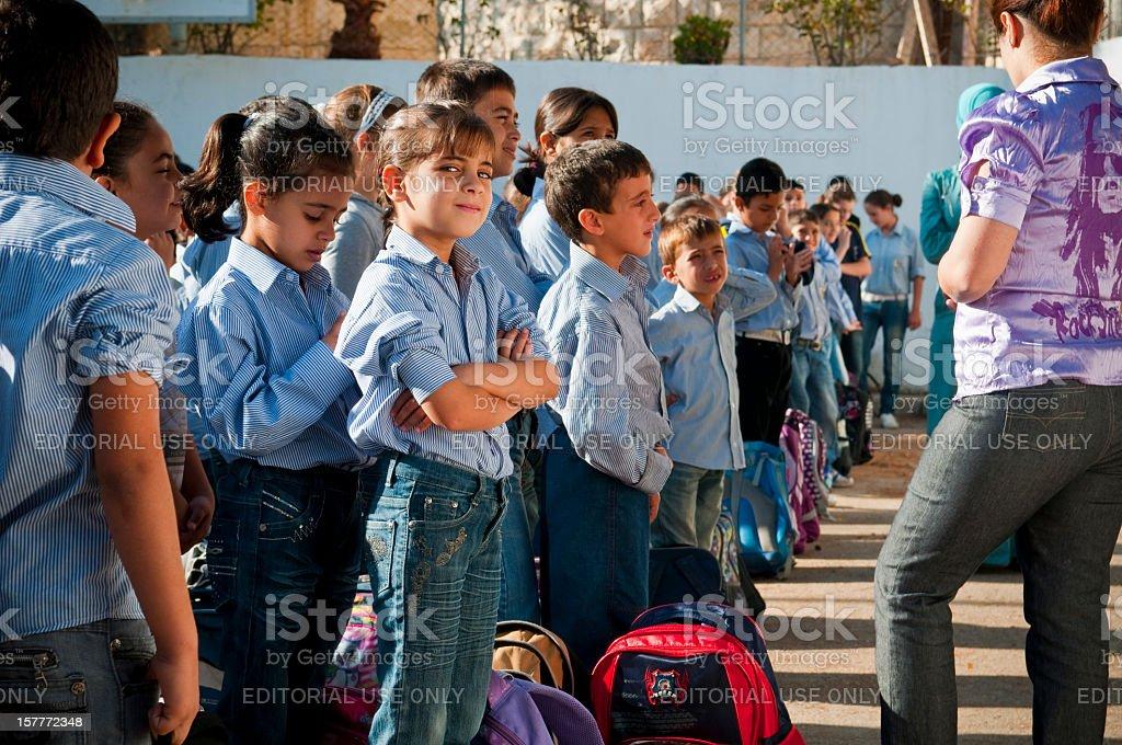 Palestinian school kids stock photo