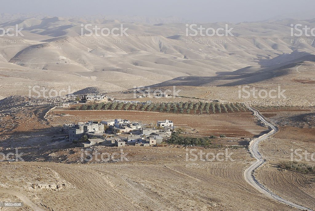 Palestinian village in the Judean Desert near Bethlehem stock photo