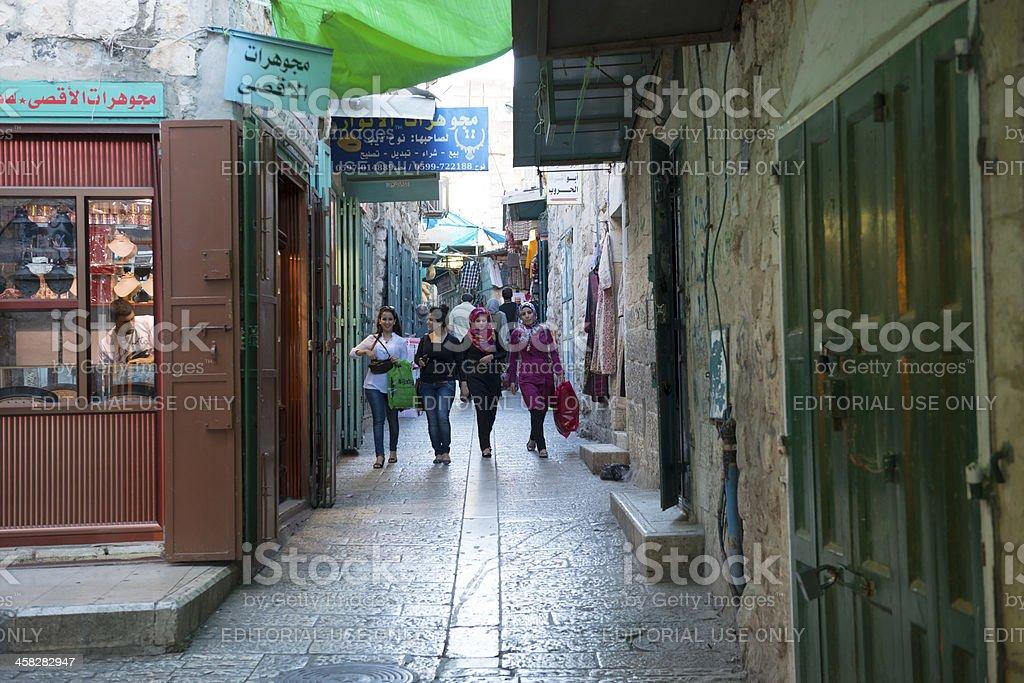 Palestinian women in Bethlehem stock photo