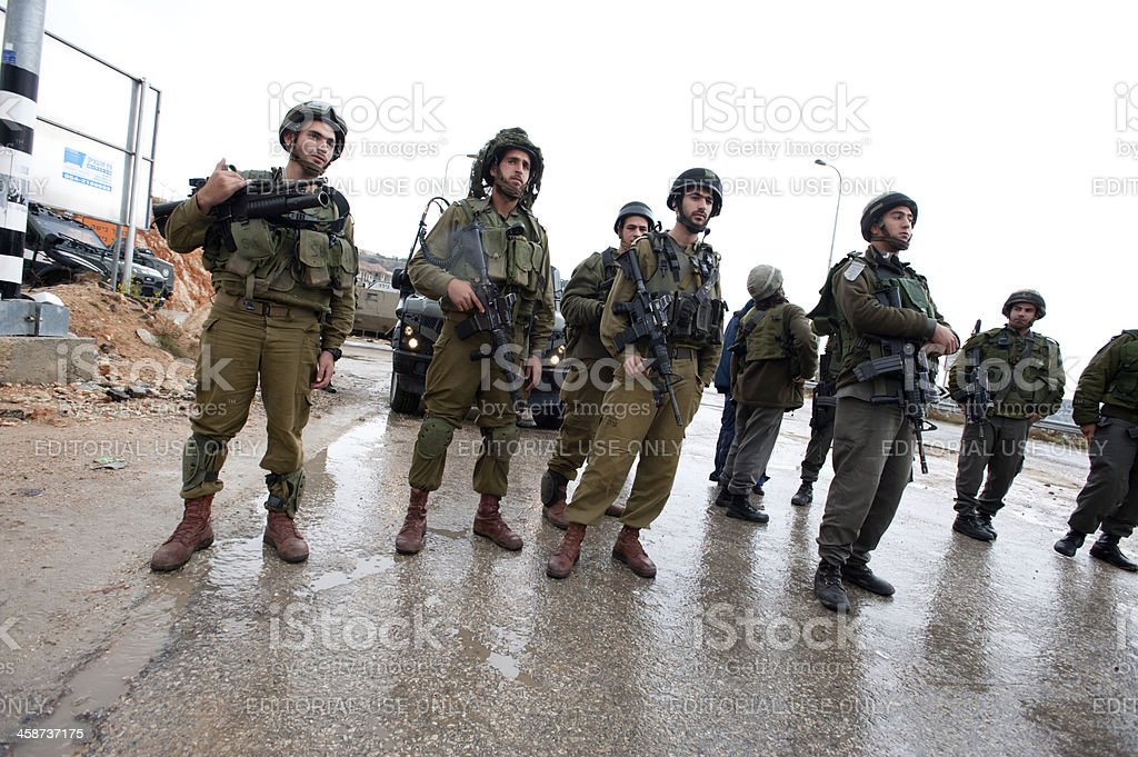Palestinians Protest Israeli Wall and West Bank Settlements royalty-free stock photo