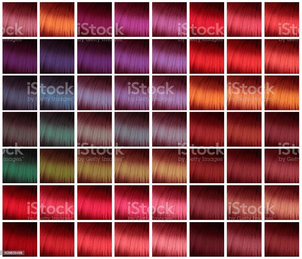 Farbpalette Für Haare Färben Stockfoto Und Mehr Bilder Von Abstrakt