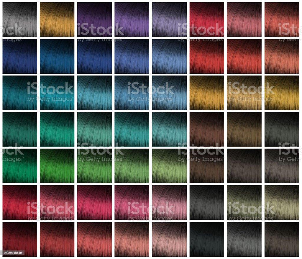 Farbpalette Für Haare Färben Stock-Fotografie und mehr Bilder von ...