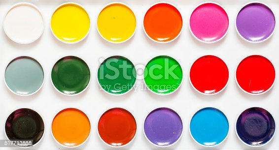istock Palette of paints for drawing 517713888