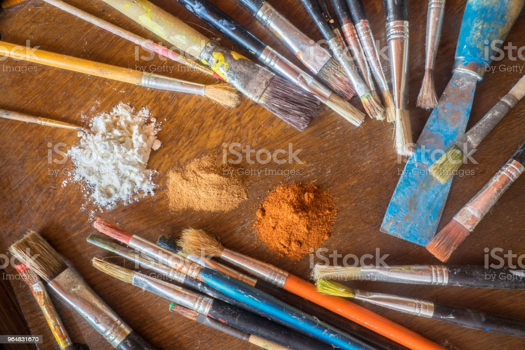 Palette painter, imaging accessories royalty-free stock photo