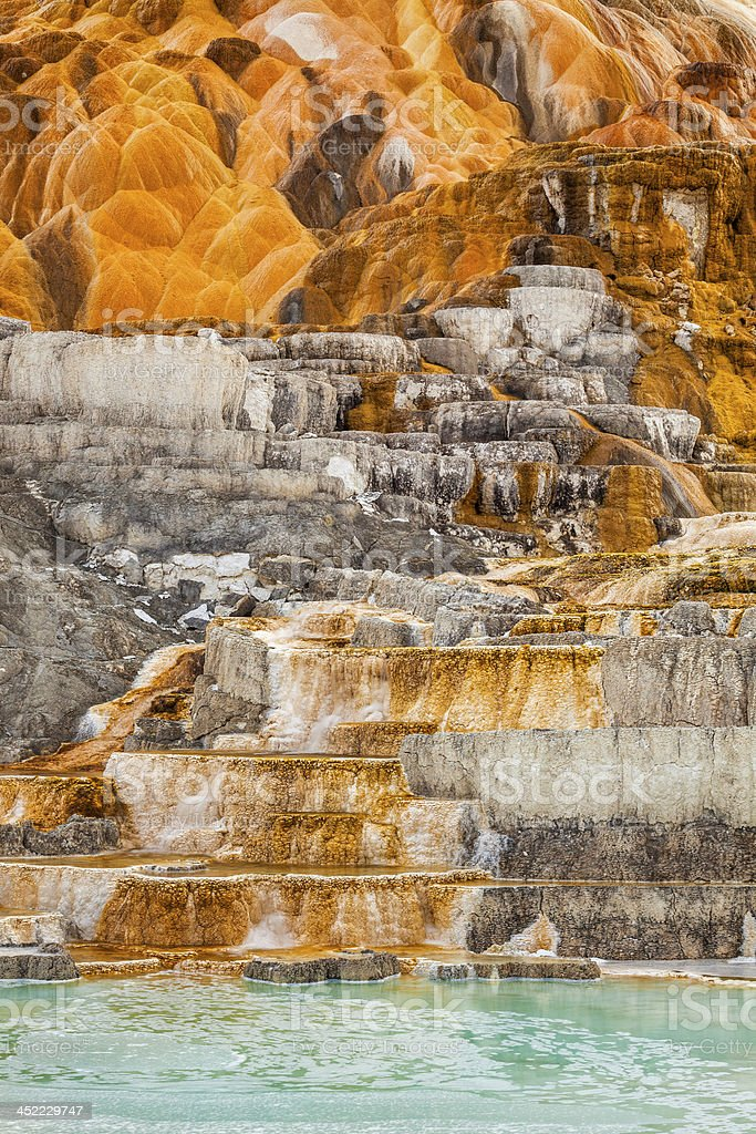 Palette Spring in Yellowstone stock photo
