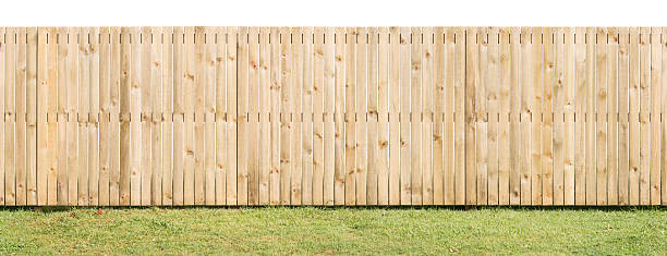 paling fence isolated & seamless - fence stock photos and pictures