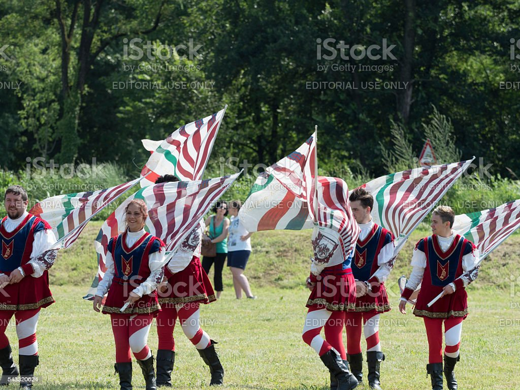 Palio of Legnano stock photo
