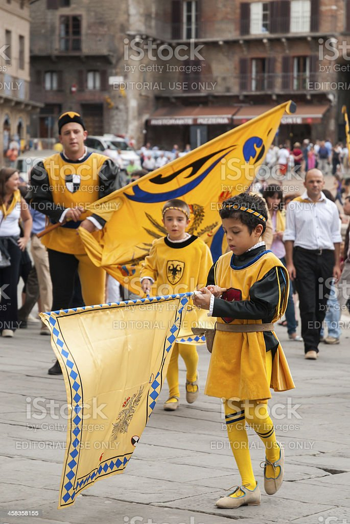Palio Parade stock photo