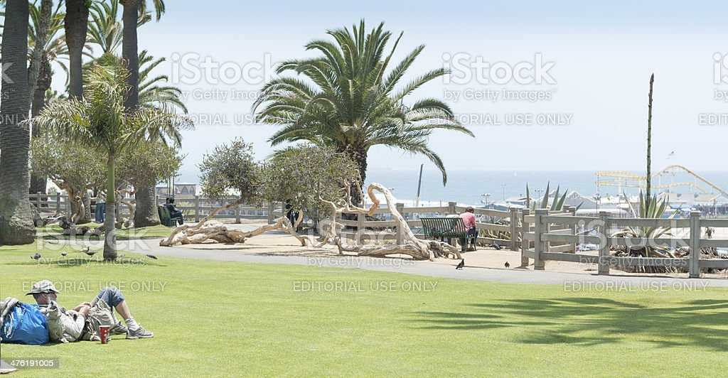 Palisades Park in Santa Monica California royalty-free stock photo