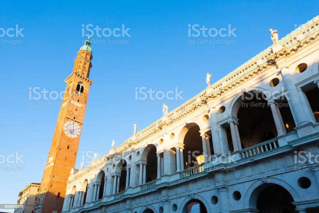 Palladian basilica view,Vicenza,Italy - foto stock
