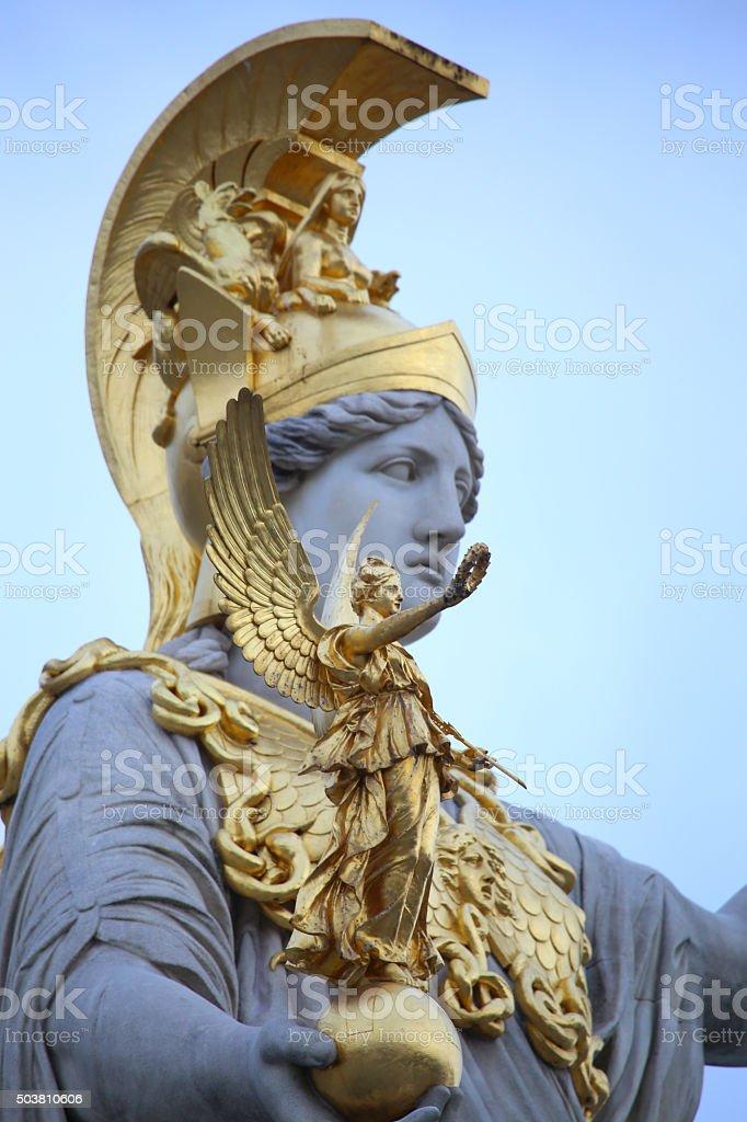 Pallas Athena in Vienna, Austria stock photo