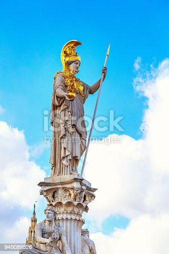 istock Pallas Athena statue in Vienna, Austria 945089526