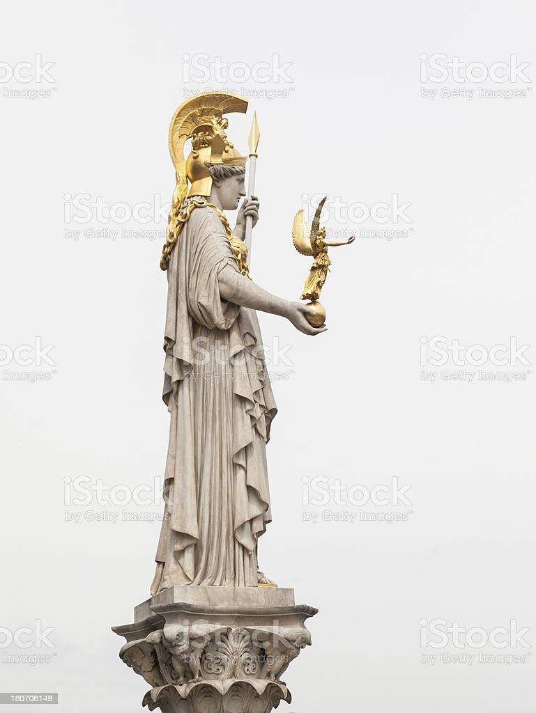 Pallas Athena Statue stock photo