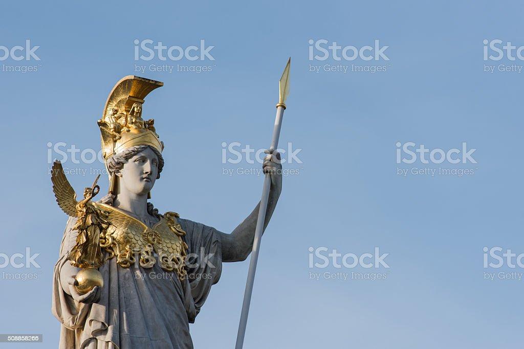 Pallas Athene Fountain, Vienna, Austria. stock photo