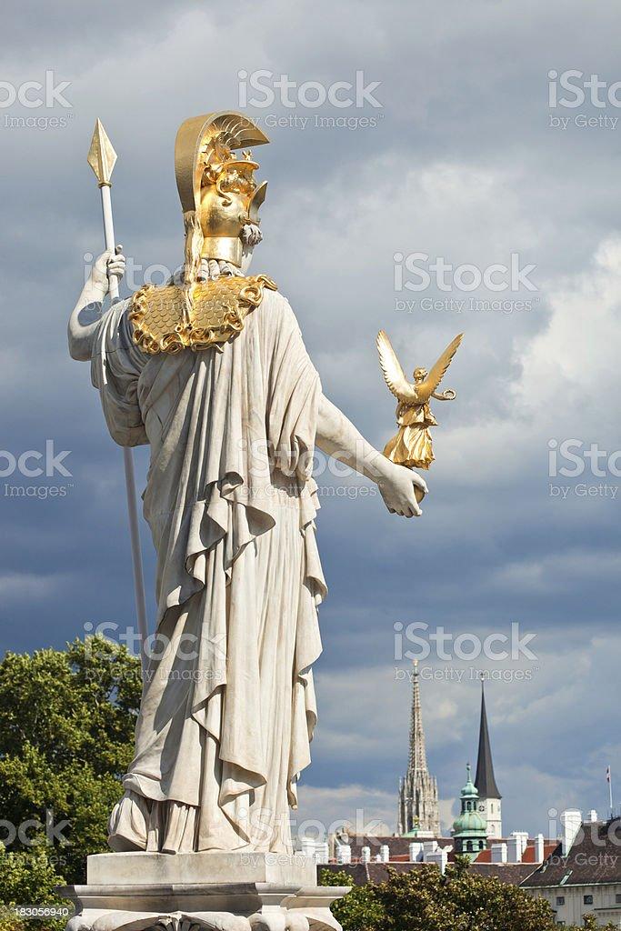 Pallas Athene Statue In Vienna, Austria stock photo