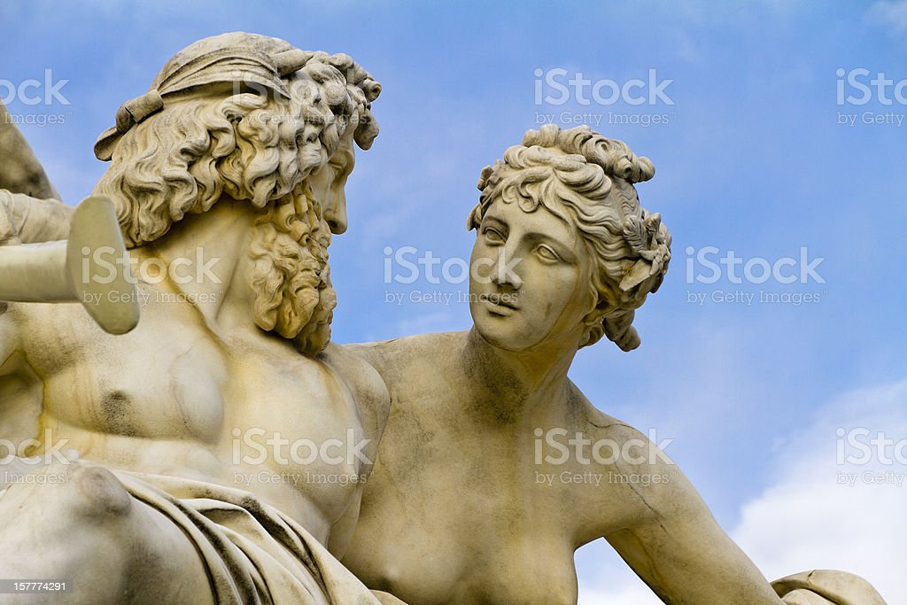 Pallas-Athene Fountain, Vienna royalty-free stock photo