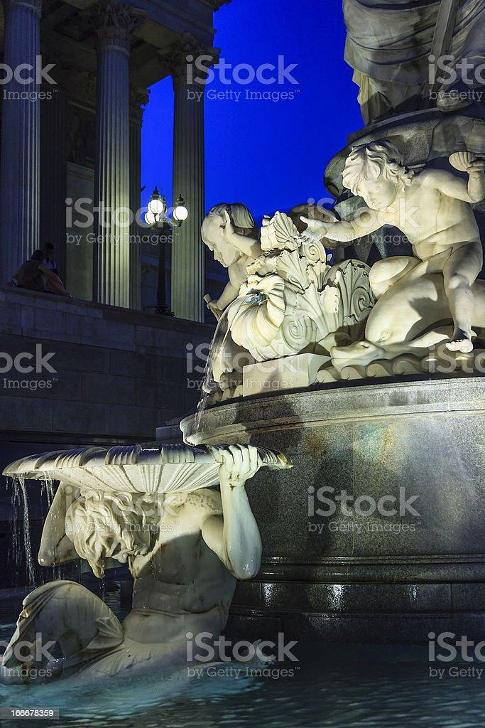 Pallas-Athene Fountain, Vienna royalty-free stock photo
