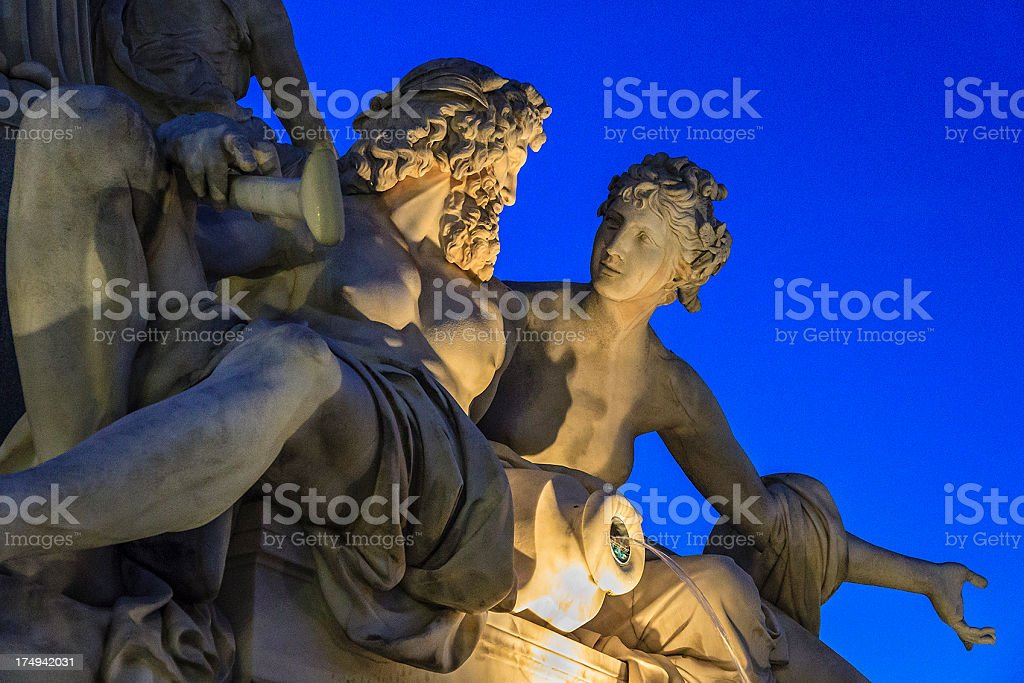 Pallas-Athene Fountain, Vienna stock photo