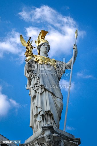 istock Palles Athene Fountain in front of the Parliament in Vienna, Austria 1304427431
