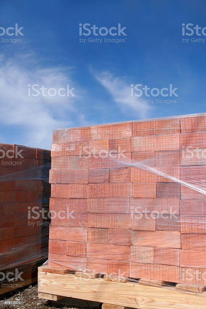 Pallet of Brick royalty-free stock photo