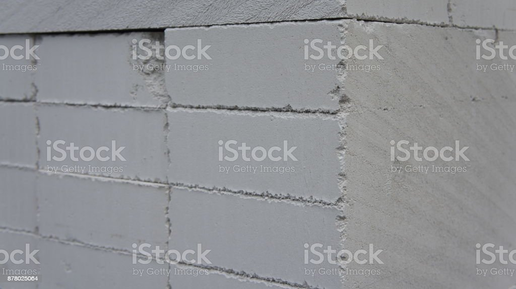 A Pallet Of Cinder Blocks On A Construction Site Stock Photo