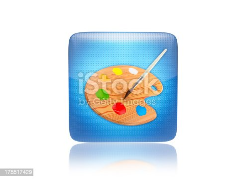 istock Pallet or paint icon 175517429