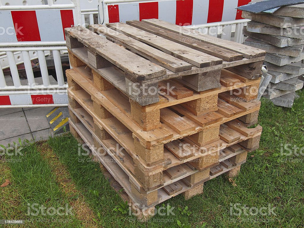 Pallet skid royalty-free stock photo