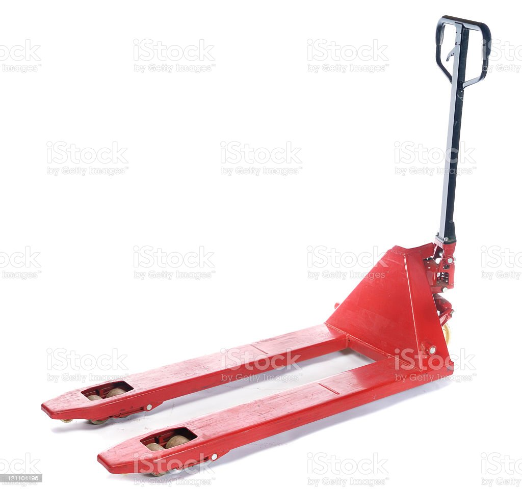 Pallet Truck Isolated royalty-free stock photo