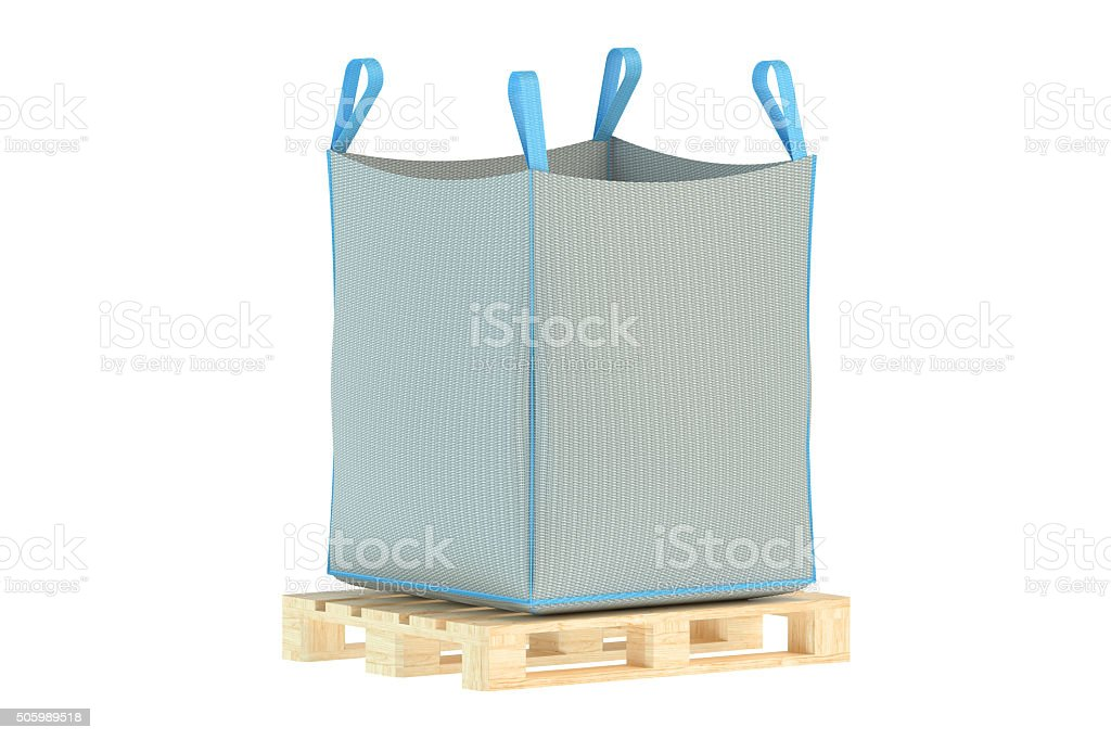 pallet with big bag stock photo