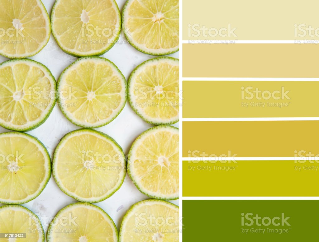Photo Libre De Droit De Palette De Couleurs De Citron Vert Jaune Et