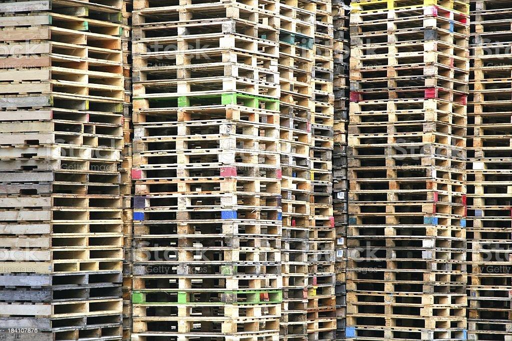 Pallets Landscape royalty-free stock photo
