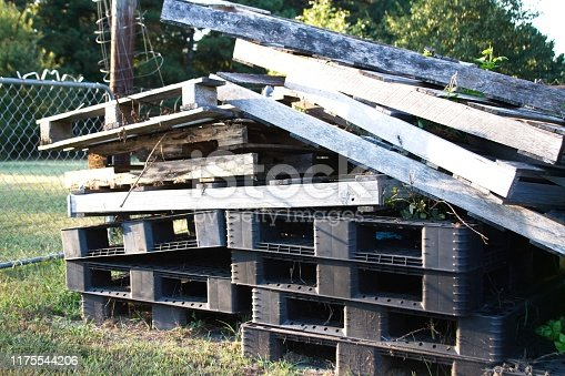 pallets that could be recycled.