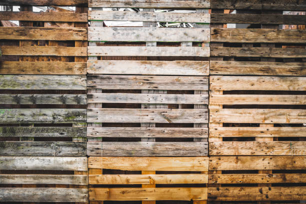 pallets texture grunge copy space wooden background warehouse wallpaper - pallet foto e immagini stock