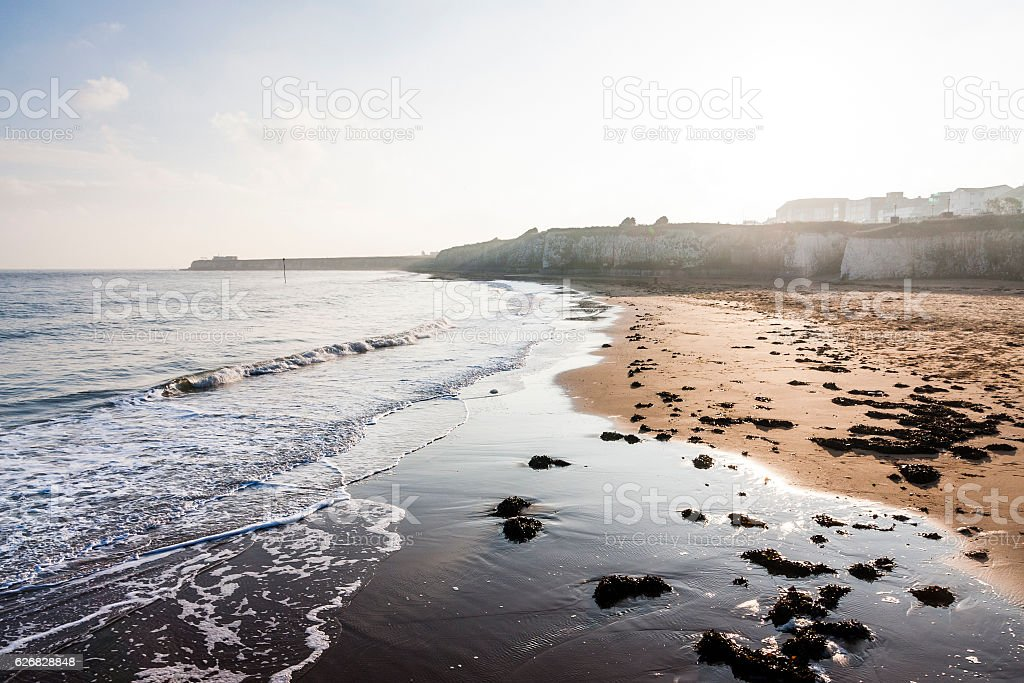 Palm bay beach in-between Margate and Broadstairs, Thanet, Kent, England stock photo