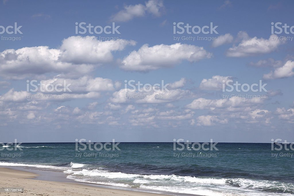 Palm Beach Afternoon royalty-free stock photo