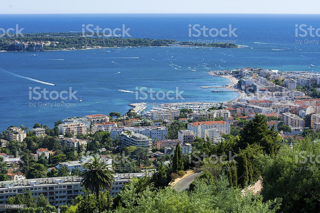 Palm Beach Cannes stock photo
