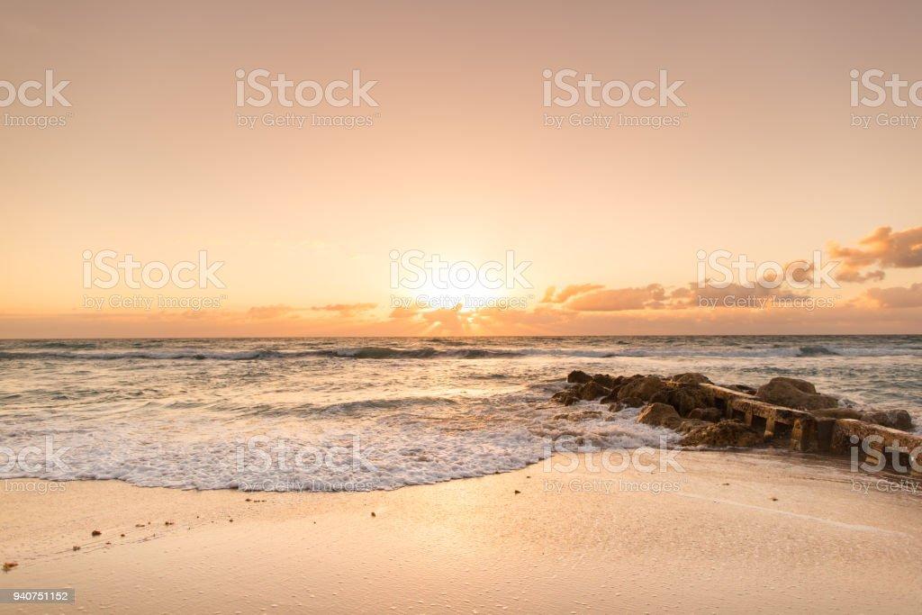 Palm Beach, Florida Sunrise stock photo