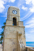 Palm Beach, Florida, USA. The clock tower on Worth Avenue
