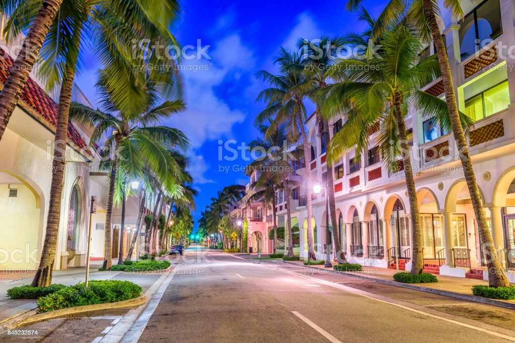 Palm Beach on Worth Ave stock photo