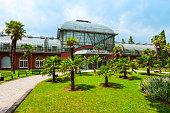 FRANKFURT AM MAIN, GERMANY - JUNE 24, 2018: The Palmengarten botanical garden in Frankfurt am Main, Germany