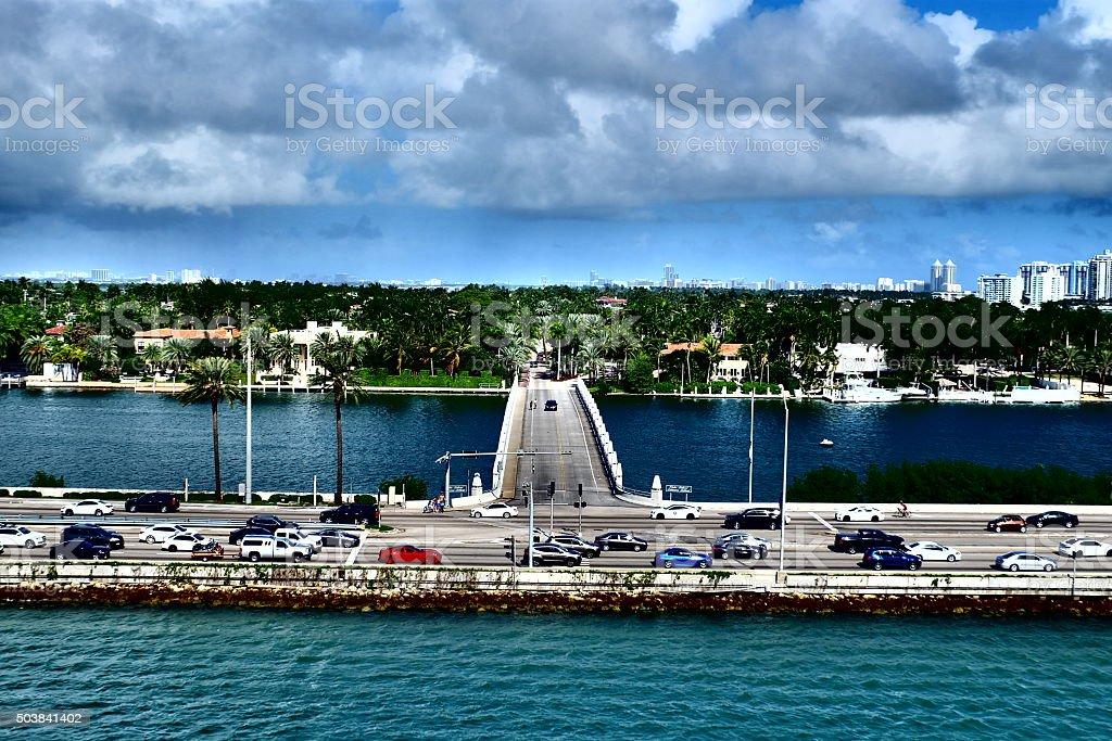 Palm Island, Miami stock photo