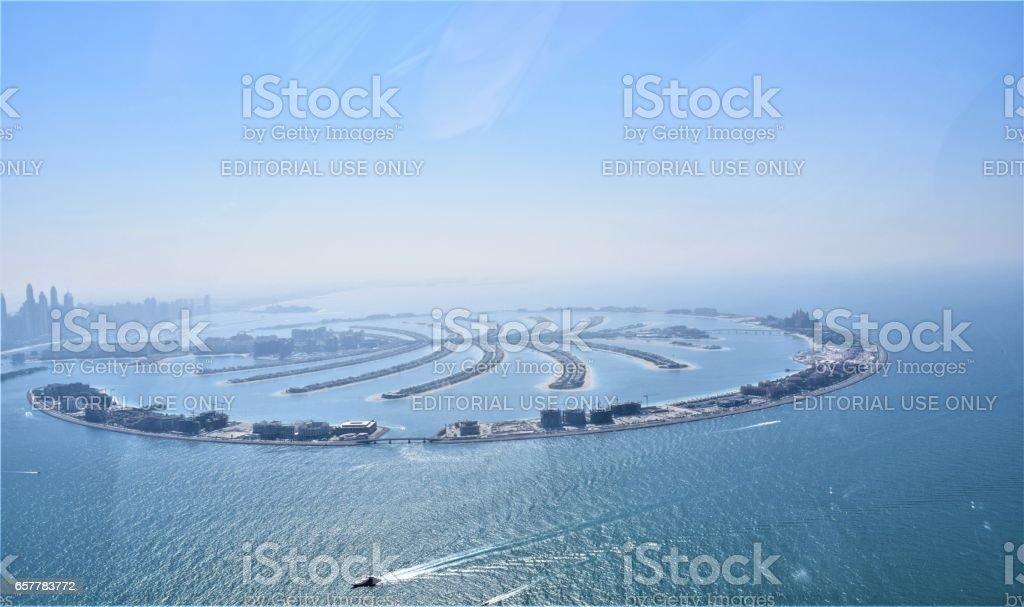 Palm Jumeirah - Dubai Aerial Shot stock photo