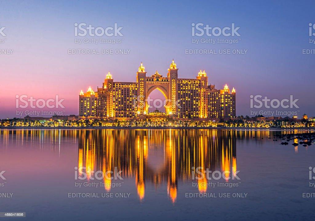 Palm Jumeirah, Dubai stock photo
