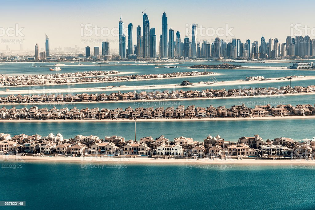 Palm Jumeirah, Dubai, UAE stock photo
