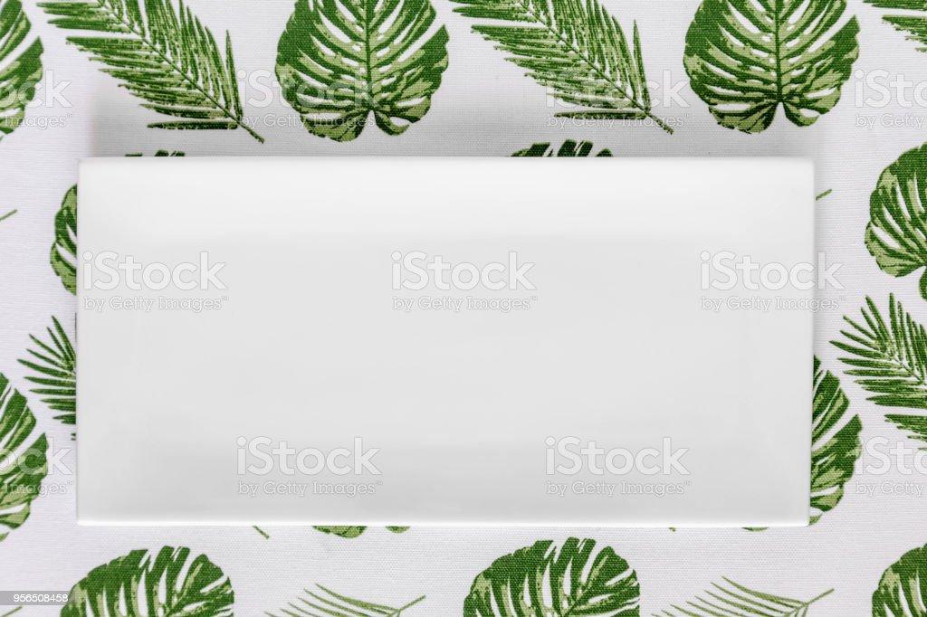 Palmblätter Tischdecke - Lizenzfrei Alt Stock-Foto