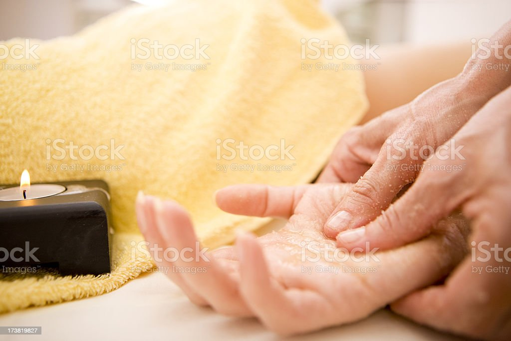 Palm massage stock photo