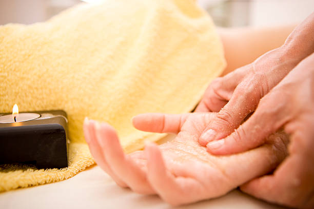 Palm massage stock photo