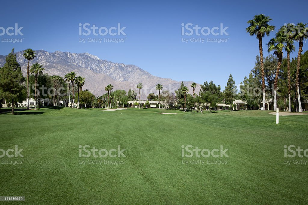 Palm Spring Golf Course Fairway royalty-free stock photo